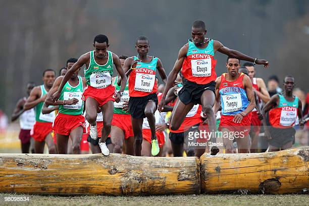 Joseph Ebuya of Kenya on his way to victory in the Senior Men's race during the Iaaf World Cross Country Championships at Myslecinek Park on March 28...