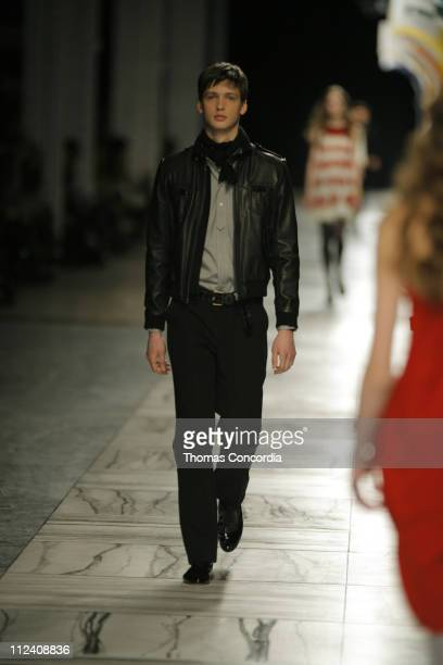 Joseph Edney wearing 3.1 Phillip Lim Fall 2007 during Mercedes-Benz Fashion Week Fall 2007 - 3.1 Phillip Lim - Runway at Waterfront Building in New...