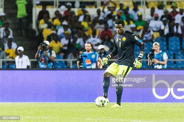 Joseph Fabrice Ondoa Ebogo of Cameroon during the African Nations Cup match between Cameroon and Gabon at Stade de L'Amitie on January 22, 2017 in...