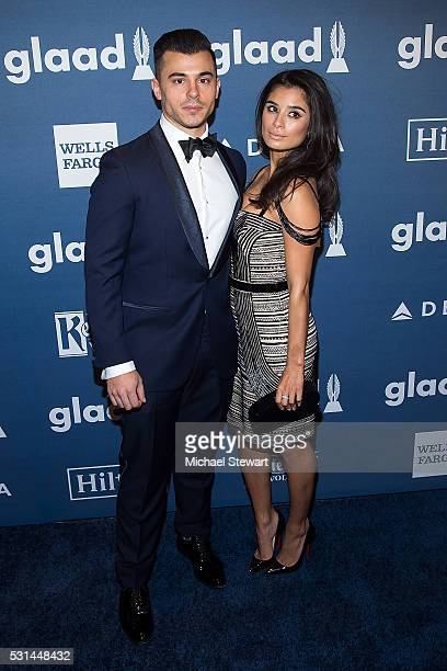 Joseph Ferrara and actress Diane Guerrero attend the 27th Annual GLAAD Media Awards at The Waldorf=Astoria on May 14 2016 in New York City