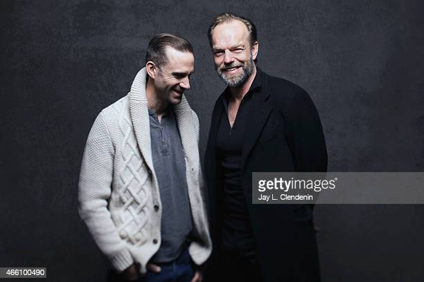 Joseph Fiennes and Hugo Weaving from the film 'Strangerland' pose for a portrait for the Los Angeles Times at the 2015 Sundance Film Festival on...