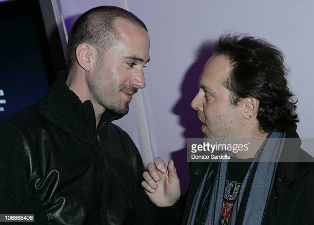 Joseph Fiennes and Lars Ulrich during Gran Centenario Tequila Celebrates the Premiere of 'The Darwin Awards' at the 2006 Sundance Film Festival at...
