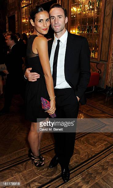 Joseph Fiennes and Maria Dieguez attend the MARTINI 150 anniversary gala at Villa Erba Lake Como on September 19 2013 in Como Italy