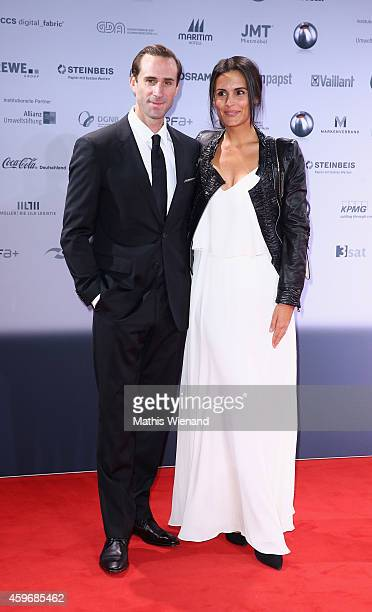Joseph Fiennes and Maria Dolores Dieguez attend the German Sustainability Award on November 28 2014 in Duesseldorf Germany