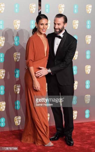 Joseph Fiennes and Maria Dolores Dieguez attends the EE British Academy Film Awards at Royal Albert Hall on February 10 2019 in London England