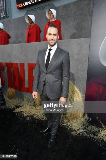 Joseph Fiennes attends the premiere of Hulu's The Handmaid's Tale Season 2 at TCL Chinese Theatre on April 19 2018 in Hollywood California