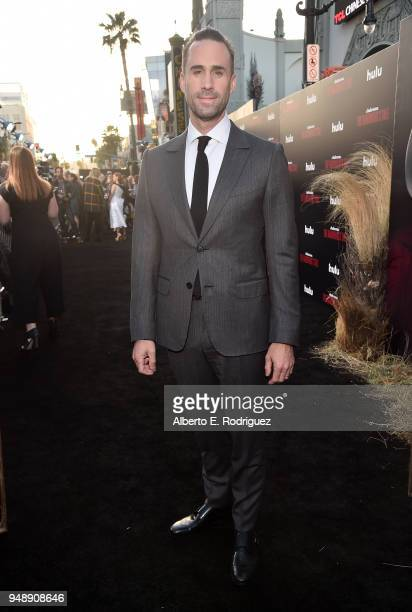 Joseph Fiennes attends the season 2 premiere of Hulu's 'The Handmaid's Tale' at the TCL Chinese Theatre on April 19 2018 in Hollywood California