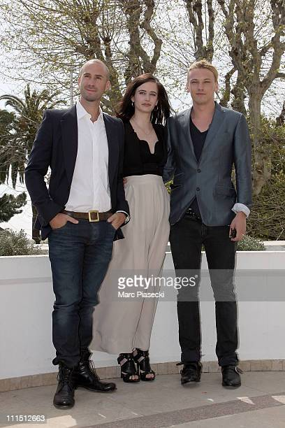 Joseph Fiennes Eva Green and Jamie Campbell Bower attend the Camelot Photocall during the MIPTV 2011 at Hotel Majestic on April 4 2011 in Cannes...