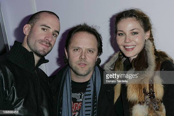 Joseph Fiennes, Lars Ulrich and Connie Nielsen *EXCLUSIVE*