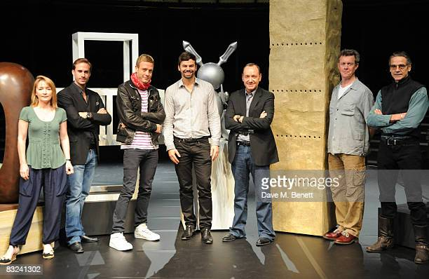 Joseph Fiennes Michael Elmgreen Ingar Dragset Kevin Spacey Alex Jennings and Jeremy Irons pose on stage for a Gala one night only performance at the...