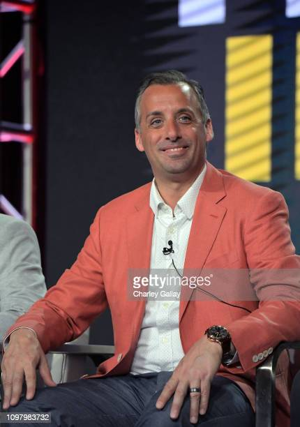 Joseph Gatto of 'The Misery Index' speaks onstage during the TBS portion of the TCA Turner Winter Press Tour 2019 Presentation at The Langham...