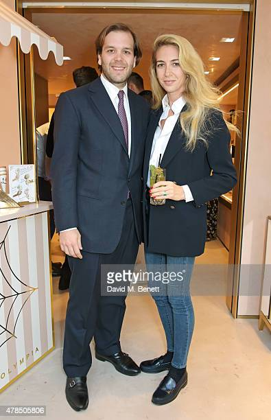 Joseph Getty and Sabine Ghanem attend the opening of the Charlotte Olympia Brompton Cross store on June 25 2015 in London England