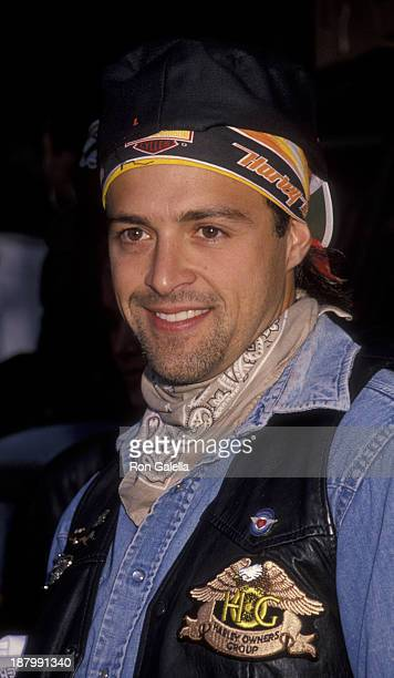 Joseph Gian attends Seventh Annual Love Ride Benefit for Muscular Dystrophy Association on November 11 1990 at the HarleyDavidson of Glendale in...