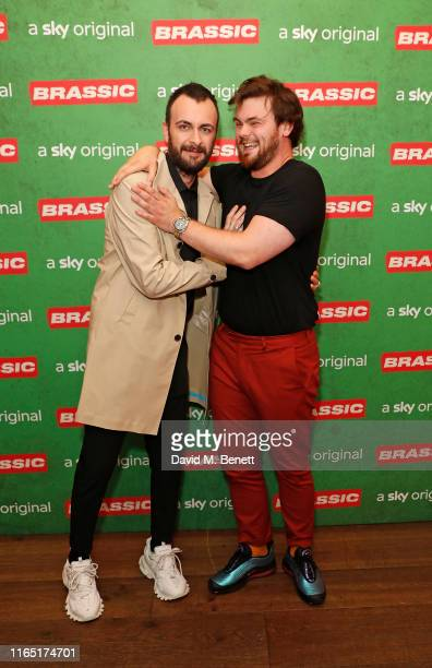Joseph Gilgun and Tom Hanson attend the preview of Sky original Brassic all episodes of the comedy drama available August 22 on July 30 2019 in...
