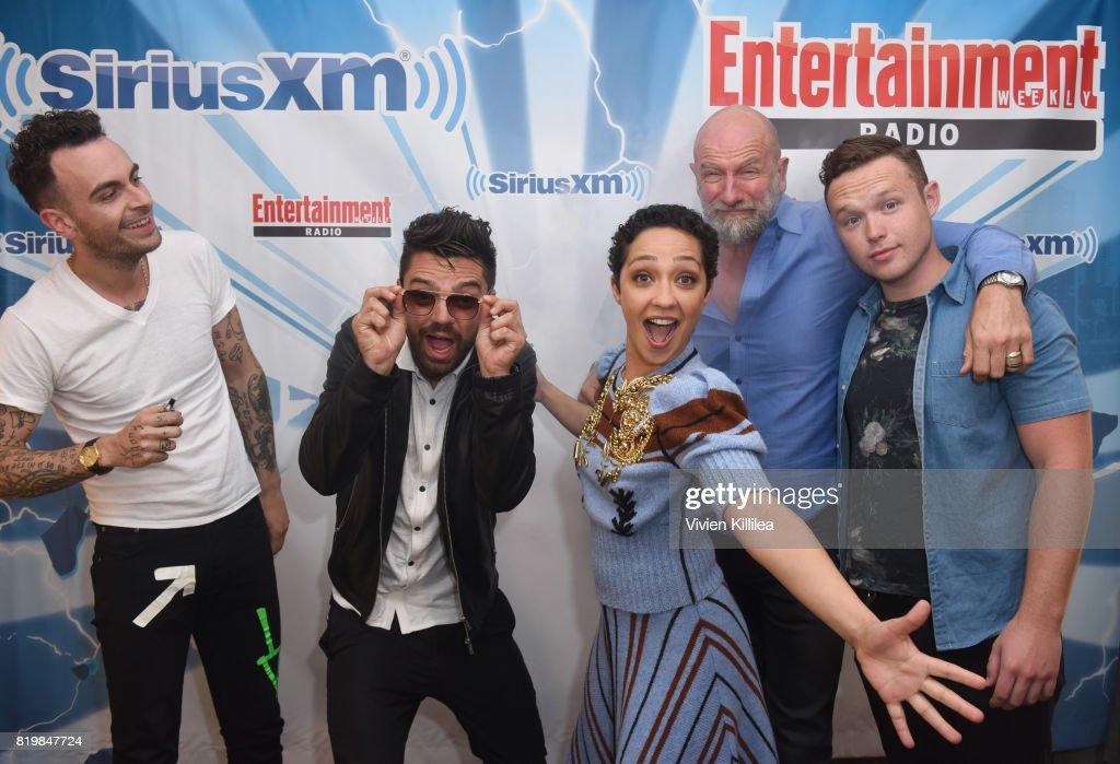 Joseph Gilgun, Dominic Cooper, Ruth Negga, Graham McTavish and Ian Colletti attend SiriusXM's Entertainment Weekly Radio Channel broadcast from Comic Con 2017 at Hard Rock Hotel San Diego on July 20, 2017 in San Diego, California.