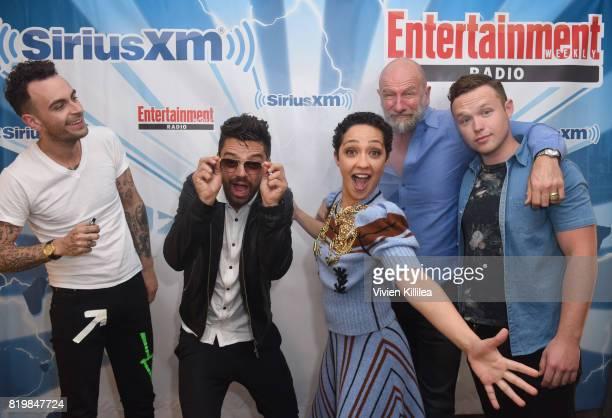 Joseph Gilgun Dominic Cooper Ruth Negga Graham McTavish and Ian Colletti attend SiriusXM's Entertainment Weekly Radio Channel broadcast from Comic...