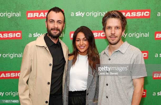 Joseph Gilgun Michelle Keegan and Damien Molony attend the preview of Sky original Brassic all episodes of the comedy drama available August 22 on...