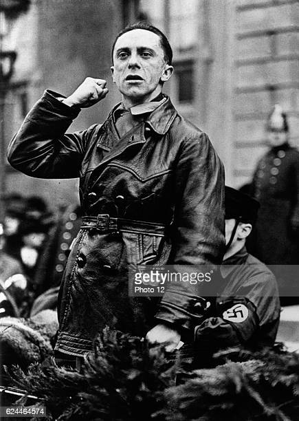 Joseph Goebbels German politician and Reich Minister of Propaganda in Nazi Germany from 1933 to 1945