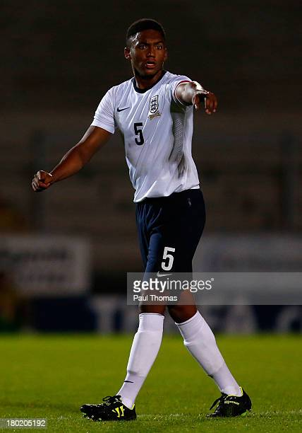 Joseph Gomez of England in action during the International Friendly match between England U17 and Turkey U17 at the Pirelli Stadium on August 30 2013...