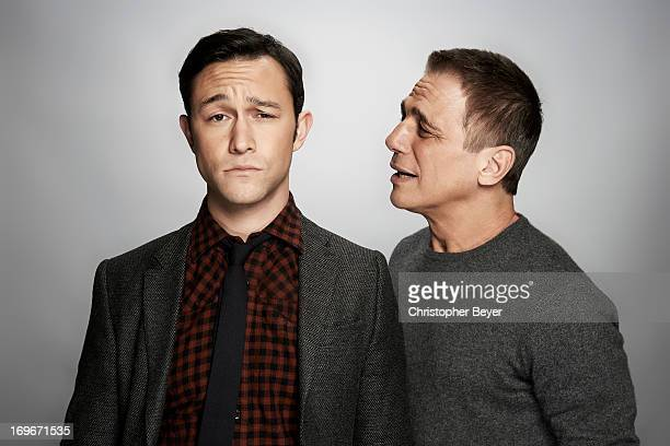 Joseph Gordon Levitt and Tony Danza are photographed for Entertainment Weekly Magazine on January 19 2013 in Park City Utah