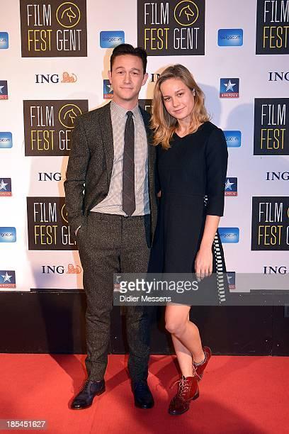 Joseph GordonLevitt and Brie Larson attends the Belgian premiere of Don Jon at the 40th Ghent Film Festival on October 17 2013 in Gent Belgium