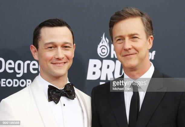Joseph GordonLevitt and Edward Norton arrive to the Comedy Central Roast of Bruce Willis held on July 14 2018 in Los Angeles California