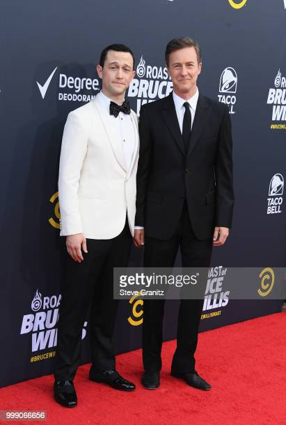 Joseph GordonLevitt and Edward Norton attend the Comedy Central Roast of Bruce Willis at Hollywood Palladium on July 14 2018 in Los Angeles California