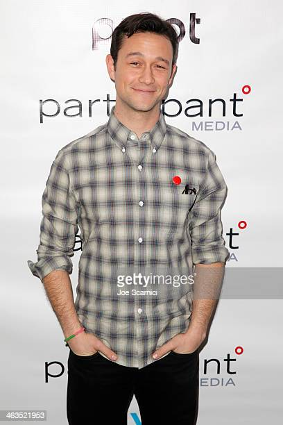 Joseph GordonLevitt attends Participant Media Celebrates 10 Years And The World Premiere Of Pivot's HITRECORD ON TV on January 17 2014 in Park City...
