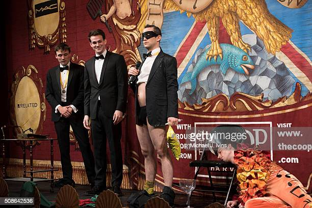 Joseph GordonLevitt is honored as the 2016 Hasty Pudding Man of the Year on February 5 2016 in Cambridge Massachusetts