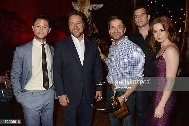 Joseph GordonLevitt Russell Crowe Zack Snyder Henry Cavill and Amy Adams attend Spike TV's Guys Choice 2013 at Sony Pictures Studios on June 8 2013...