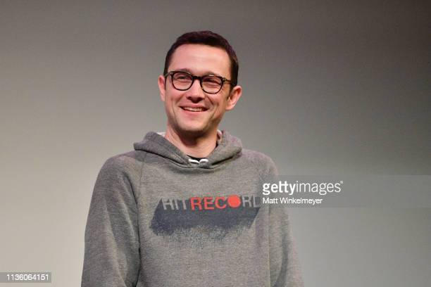Joseph GordonLevitt speaks onstage during the Band Together With Logic 2019 SXSW Conference and Festivals at Paramount Theatre on March 15 2019 in...