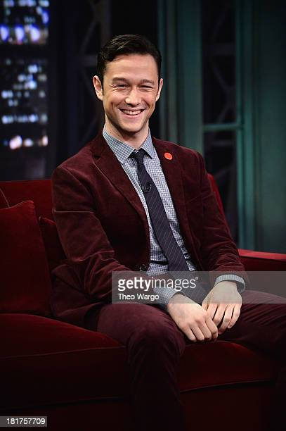 Joseph GordonLevitt visits Late Night With Jimmy Fallon at Rockefeller Center on September 24 2013 in New York City