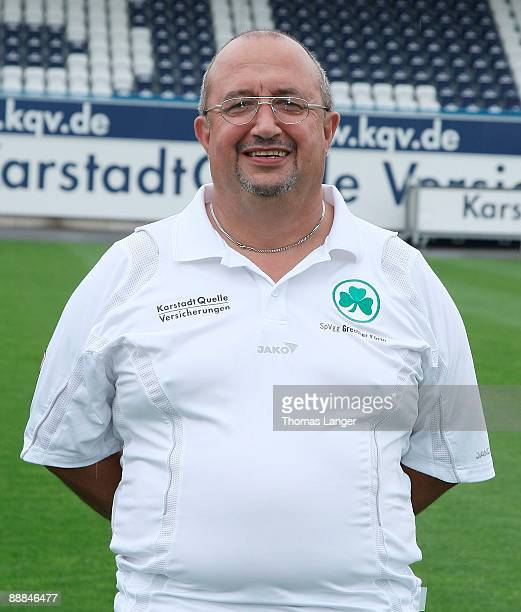 Joseph Gran poses during the Bundesliga 2nd Team Presentation of SpVgg Greuther Fuerth at the Playmobil Stadium on July 2 2009 in Fuerth Germany
