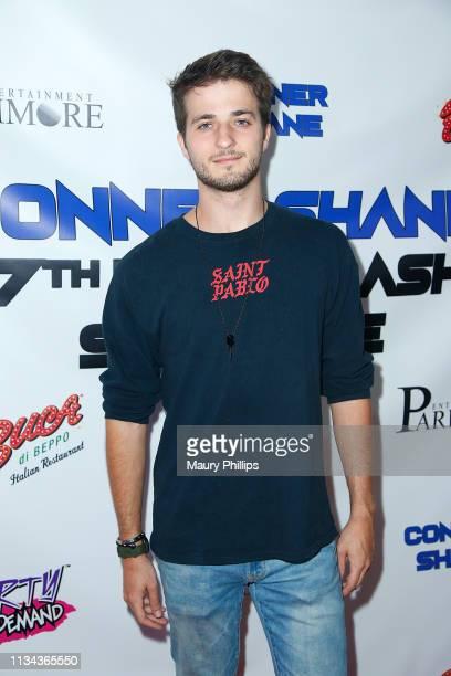 Joseph Gray arrives at Conner Shane's Birthday Bash on April 1 2019 in Sherman Oaks California