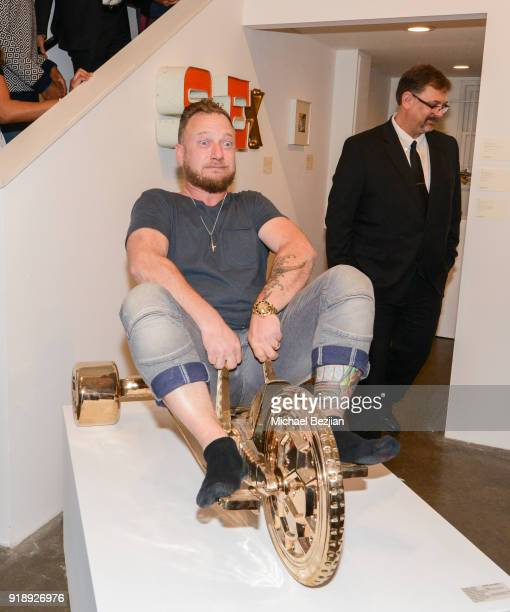 Joseph Gross attends Amare Stoudemire hosts ART OF THE GAME art show presented by Sotheby's and Joseph Gross Gallery on February 15 2018 in Los...