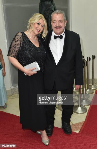 Joseph Hannesschlaeger and Bettina Geyer attend the Bernhard Wicki Award 2018 during the Munich Film Festival 2018 at Cuvilles Theatre on July 5,...