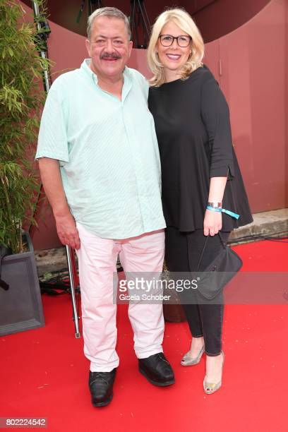 Joseph Hannesschlaeger and his girlfriend Bettina Geyer during the Bavaria Film reception during the Munich Film Festival 2017 at Kuenstlerhaus am...