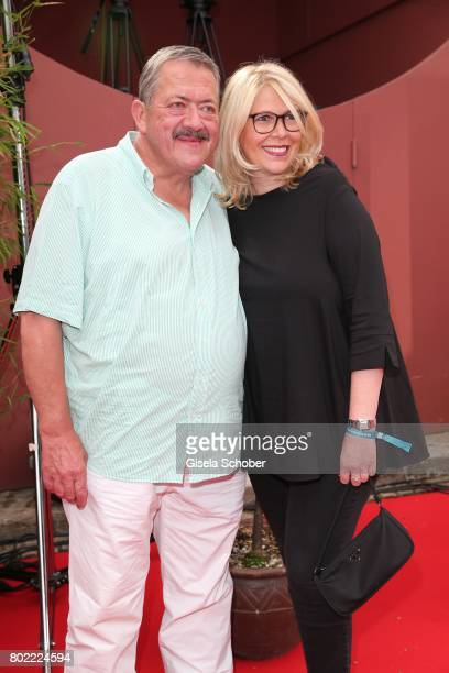 Joseph Hannesschlaeger and his girlfriend Bettina Geyer during the Bavaria Film reception during the Munich Film Festival 2017 at Kuenstlerhaus am...