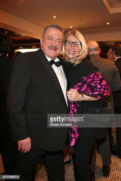 Joseph Hannesschlaeger and his girlfriend Bettina Geyer during the Movie Meets Media MMM event on the occasion of the 68th Berlinale International...
