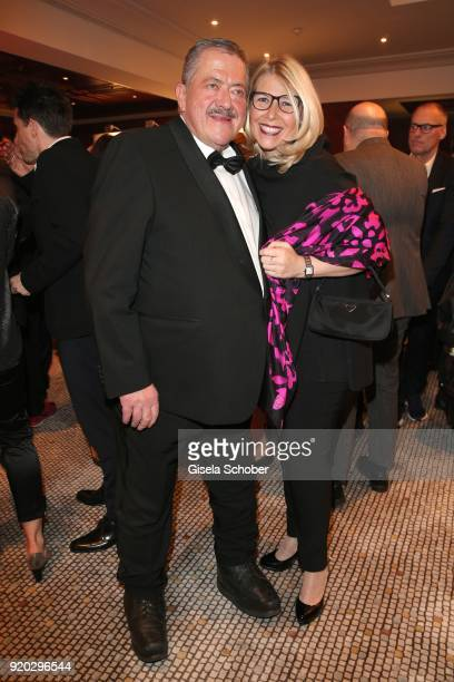 """Joseph Hannesschlaeger and his girlfriend Bettina Geyer during the Movie Meets Media """"MMM"""" event on the occasion of the 68th Berlinale International..."""