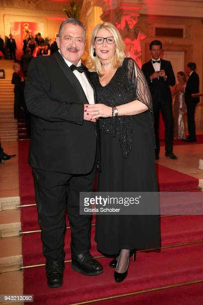 Joseph Hannesschlaeger and his girlfriend Bettina Geyer during the 29th ROMY award at Hofburg Vienna on April 7 2018 in Vienna Austria