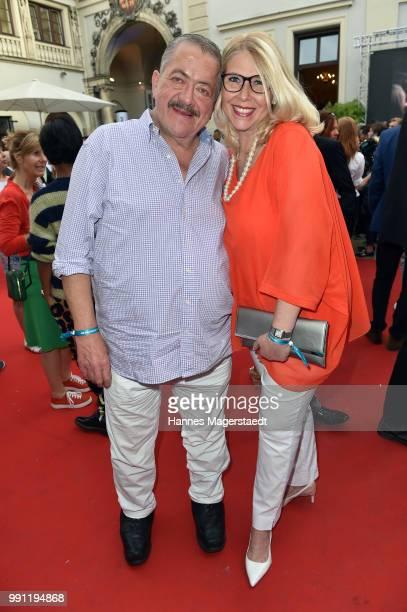 Joseph Hannesschlaeger and his girlfriend Bettina Geyer during the Bavaria Film reception during the Munich Film Festival 2018 at Kuenstlerhaus am...