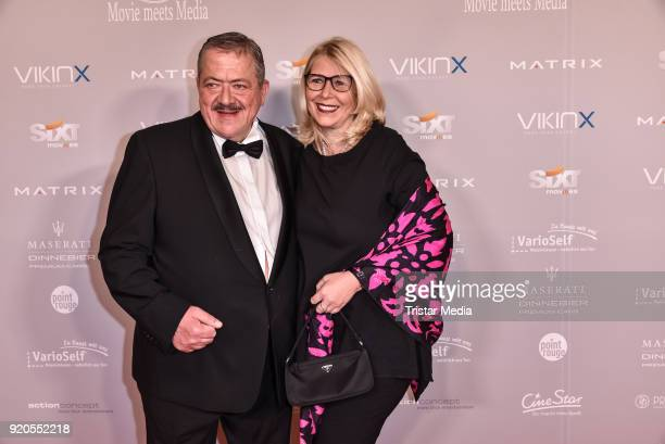 Joseph Hannesschlaeger and his partner Bettina Geyer attend Movie Meets Media 2018 on February 18, 2018 in Berlin, Germany.