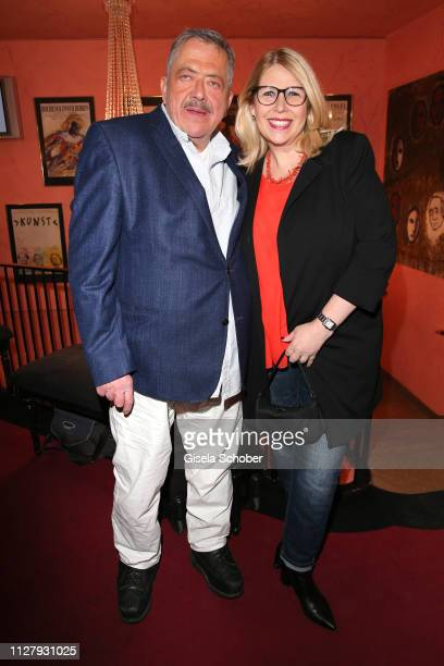 Joseph Hannesschlaeger and his wife Bettina Geyer during the premiere of the theatre play Noch einmal verliebt at Komoedie im Bayerischen Hof on...
