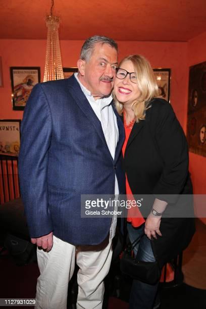 """Joseph Hannesschlaeger and his wife Bettina Geyer during the premiere of the theatre play """"Noch einmal verliebt"""" at Komoedie im Bayerischen Hof on..."""