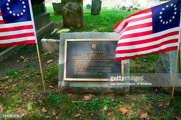 Joseph Hewes gravestone in Christ Church Burial Ground Philadelphia Pennsylvania a signer of the Declaration of Independence