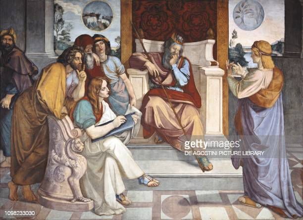 Joseph interpreting Pharaoh's dreams 18161817 by Peter von Cornelius fresco with tempera cm 236x290