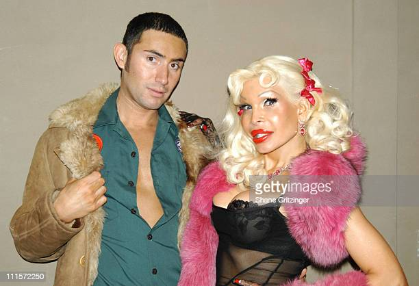 Joseph Israel and Amanda Lepore during Amanda Lepore and Richie Rich Host Distortion Disko November 17 2005 at Duvet in New York City New York United...