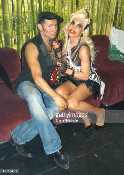 Joseph Israel and Amanda Lepore during Amanda Lepore's Birthday Bash at Happy Valley in New York City NY United States