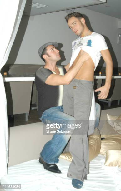 Joseph Israel and Jason Gore during Amanda Lepore Hosts Disko Distortion October 13 2005 at Duvet in New York City New York United States